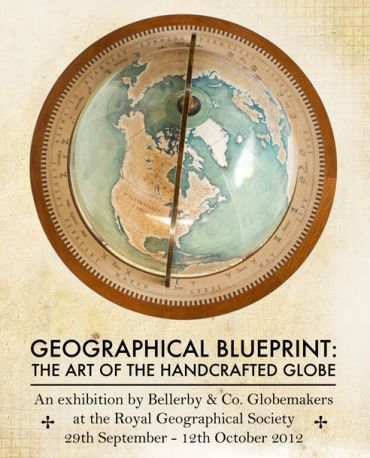 Meredith Owen Globes Exhibition Royal Geographical Society